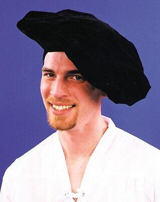 Male Renaissance Costumes (ADULT MENS RENAISSANCE FAIR ARTIST POET SHAKESPEARE MALE COSTUME HAT FELT)
