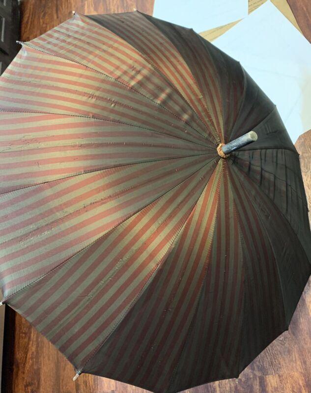 Antique Wooden Walking Can Handle umbrella