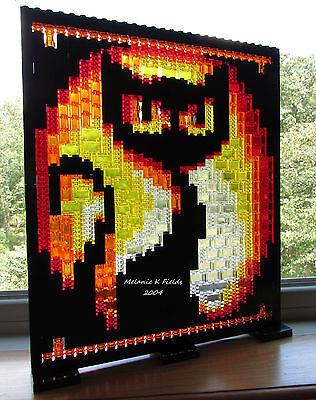Lego  Mosaic Black Cat - Halloween Pumpkin - PATTERN ONLY