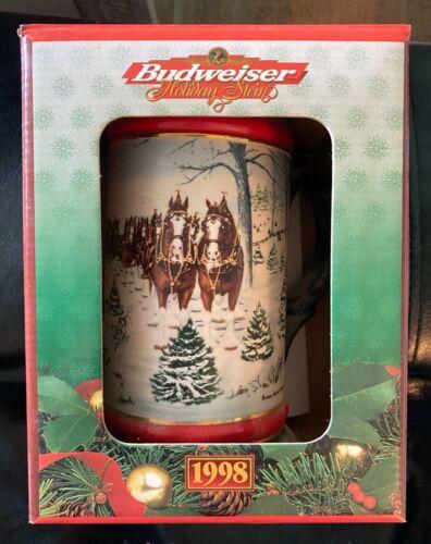 Vintage Budweiser Holiday Stein 1998