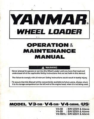 Yanmar V3-5b V4-5b And V4-5bhl Wheel Loader Operation And Maintenance Manual