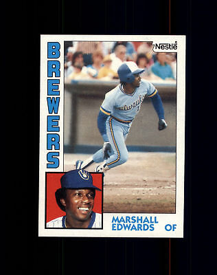 1984 Nestle  167 Marshall Edwards   Milwaukee Brewers Nm Mt  A02a