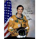NASA HOF Astronaut STS 1 John YOUNG BOB Robert CRIPPEN Signed Auto 8x10 Photo !!