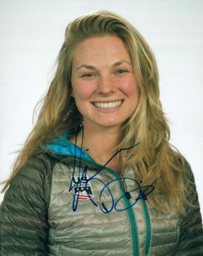 Jessie Diggins Jessica Signed 8x10 Photo 2018 Olympics Cross Country Skiing COA