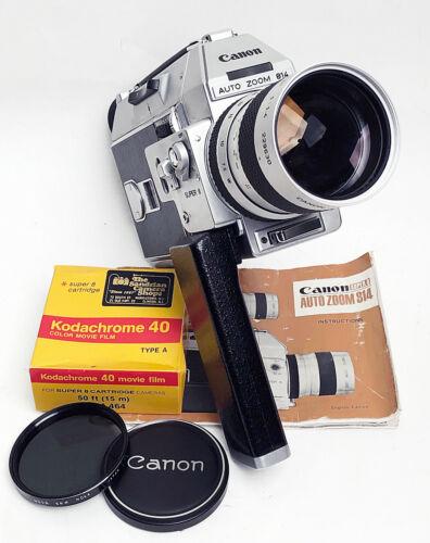 Canon Auto Zoom 814 Super 8 Movie Camera w/ Case CLA