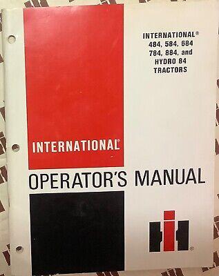 International Ih 484 584 684 784 884 Hydro 84 Tractor Operator Manual Original