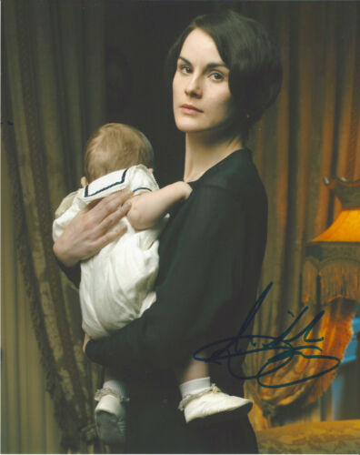 MICHELLE DOCKERY SIGNED 'DOWNTON ABBEY' LADY MARY 8X10 PHOTO B w/COA ACTRESS