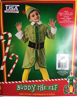 Buddy the Elf CHILD Costume NEW](Childrens Elf Costume)