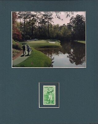 GOLF COURSE - FRAMEABLE POSTAGE STAMP ART - BOBBY JONES STAMP - 0451