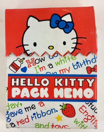 Sanrio Vintage Hello Kitty Note Pages. NEW (1970s)