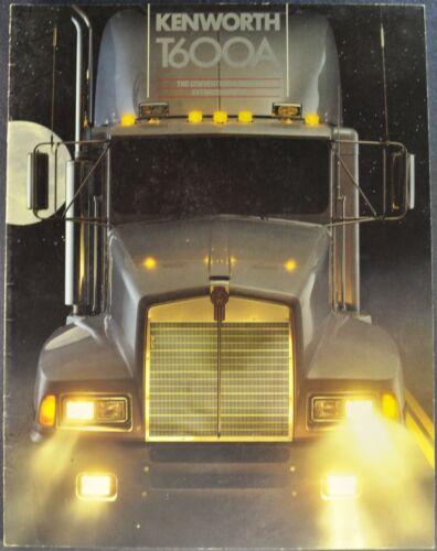 1985-1986 Kenworth T600A Truck Brochure Sleeper Cab Excellent Original