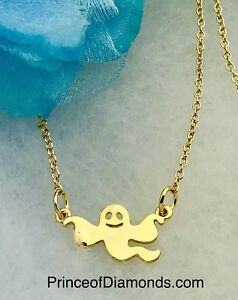 Gold coloured ghost adjustable necklace