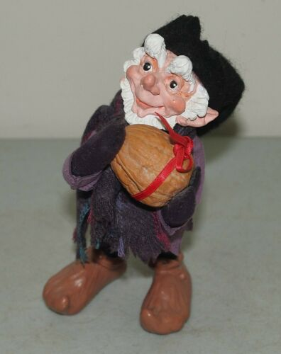 """Rare!! 6"""" Vtg SIMPICH Character ELF """"Chester"""" with CHESTNUT (Elves)"""