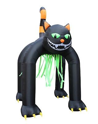13 Foot Tall Halloween Inflatable Giant Black Cat Archway Yard Party - Inflatable Halloween Cat Archway