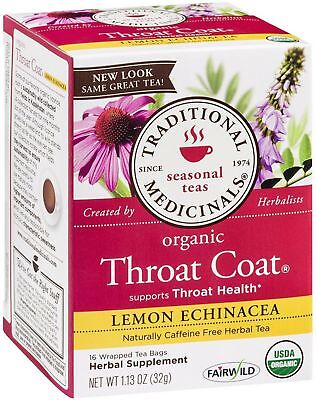 Traditional Medicinals Herbal Tea, Throat Coat Lemon Echinacea 16 ea