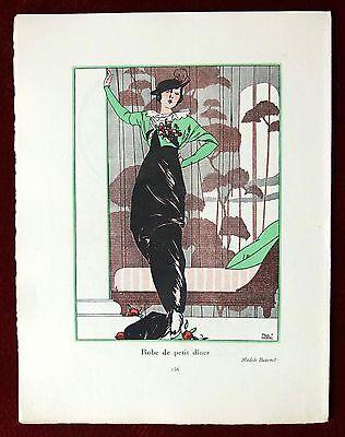 Gazette Du Bon Ton Print Pochoir   February 1913 No 4   Paul Meras
