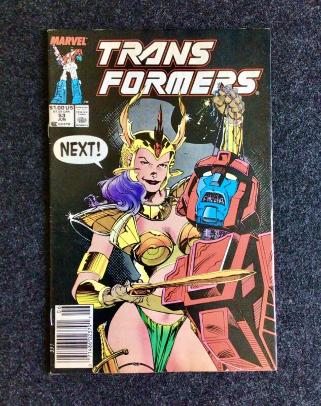 THE TRANSFORMERS #53 Newsstand Edition (Marvel Comics 1989) Jim Lee Cover VF/NM