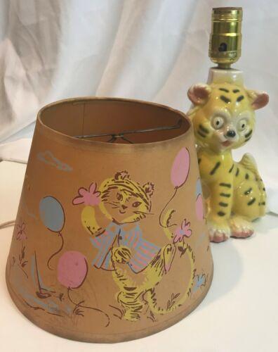 Vintage NURSERY LAMP Tiger Cub With Original Shade