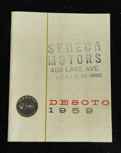 1959 DESOTO AUTO CAR SALES BROCHURE