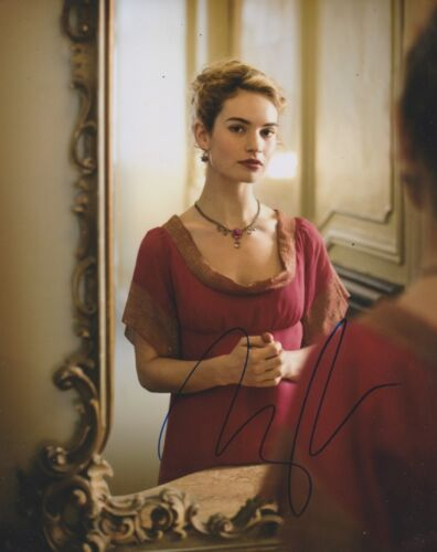Lily James Signed War And Peace 10x8 Photo AFTAL