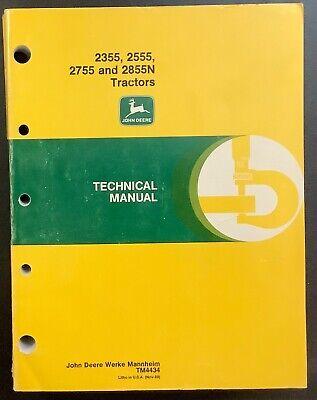 John Deere Jd 2355 2555 2755 2855n Tractor Technical Manual Tm-4434