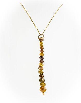 Grobem Kostüm Gelber Diamant Halskette Anhänger 14K - Kostüm Diamant Halskette