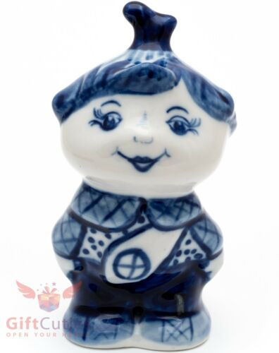 Cipollino Onion Fairy tale Collectible Gzhel Porcelain figurine Гжель