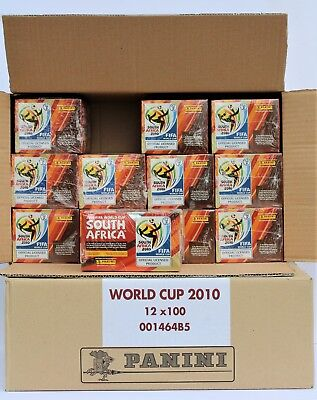 Panini World Cup 2010 - 24 x sealed box (2 cases) including 100 packs NEW