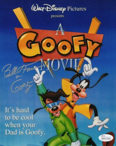 """Bill Farmer Autograph Signed 8x10 Photo - A Goofy Movie """"Goofy""""  (JSA COA)"""