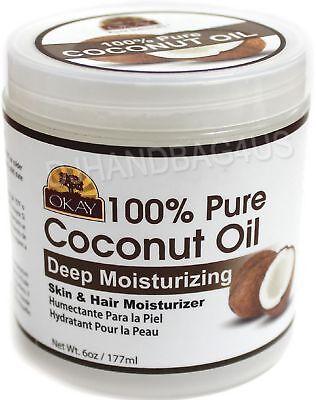 Okay 100  Pure Coconut Oil  Deep Moisturizing 6 Oz