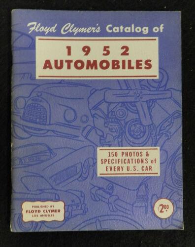 FLOYD CLYMERS CATALOG of 1952 AUTOMOBILES BOOK