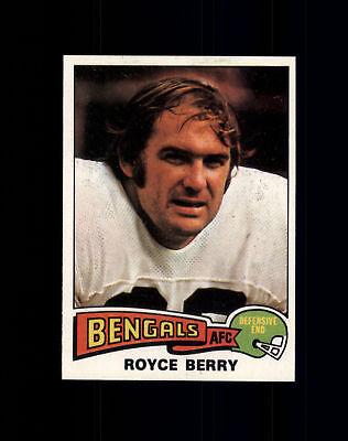 1975 Topps #334 Royce Berry - Cincinnati Bengals NM/MT (A02A)