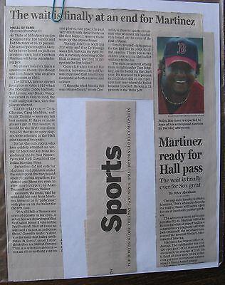 News Clippings Boston Globe 1 7 2015 Baseball Immortality For Pedro Martinez