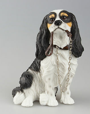 Cavalier King Charles Spaniel Dog Ornament - Walkies Collectable Dogs NEW IN BOX