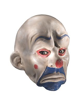 Batman The Dark Knight Adult Joker Latex Clown Mask White One Size (Dark Knight Clown Mask)