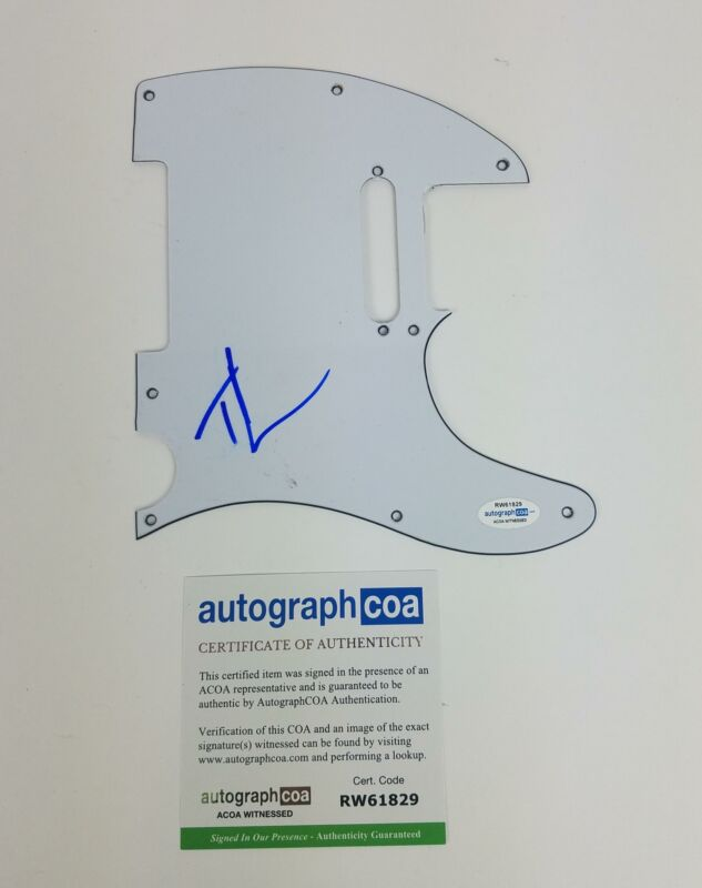 Tim McGraw Autographed Signed Guitar Pickguard Country Music ACOA Witness ITP
