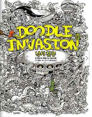 Doodle Invasion Zifflins Coloring Book By Kerby Rosanes Anti Stress Art Therapy Item Number 292422380288