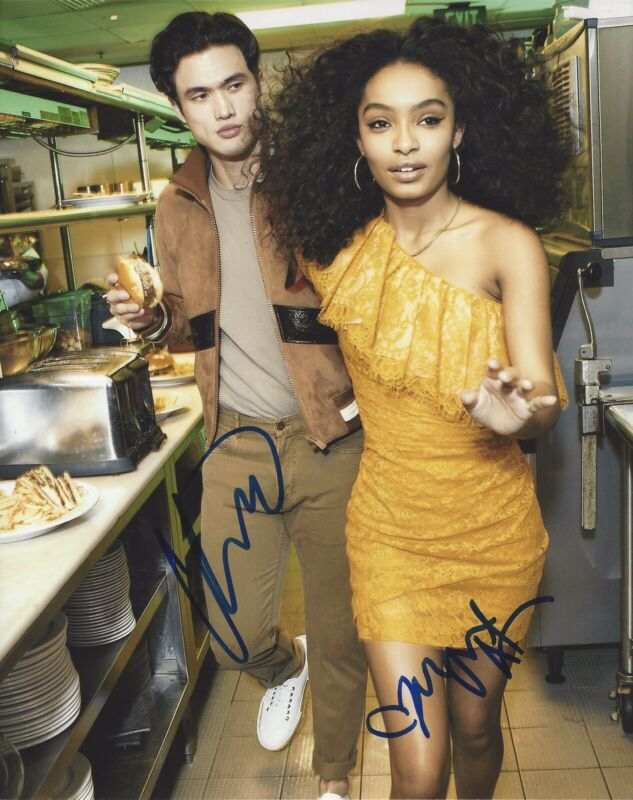 Charles Melton Yara Shahidi Signed 8x10 Photo The Sun Is Also A Star +PROOF #4