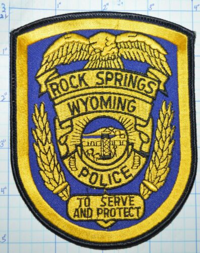 WYOMING, ROCK SPRINGS POLICE DEPT PATCH