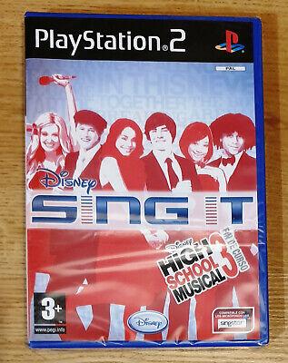 JUEGO PLAYSTATION 2 PS2 SING IT HIGH SCHOOL MUSICAL 3. DISNEY. NUEVO...