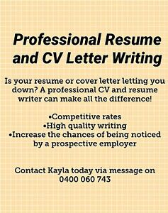 resume and cover letter writing australia wide