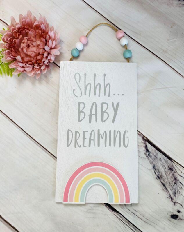 Hobby Lobby Hanging Door Sign Baby Nursery Decor Distressed Plaque