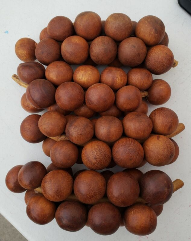 Wooden Grapes Set Of 4