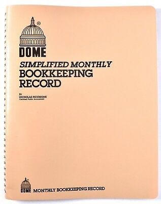 Dome 612 Simplified Monthly Bookkeeping Record Tan Cover 8.5 X 11 New