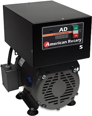 Rotary Phase Converter Ad5f - 5 Hp Floor Unitdigital Controls Heavy Duty Hd Cnc