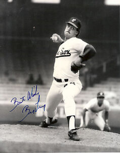 BILL-LONG-8-X-10-AUTOGRAPHED-BLACK-WHITE-PHOTO-WHITE-SOX