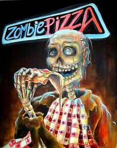 Day-of-the-Dead-039-Zombie-Pizza-039-Print-by-artist-Heather-Calderon