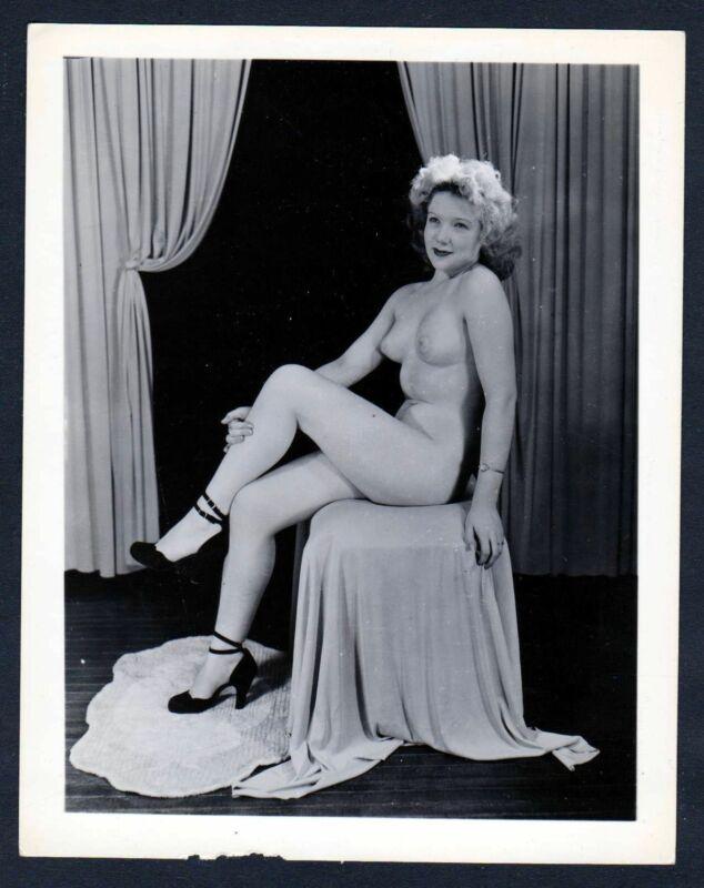 1960 Akt nackt FKK Erotik nude Aktfoto vintage blonde pin up Foto photo Pose