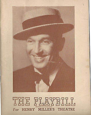 1947 Playbill Maurice Chevalier In an evening of Songs and Impressions
