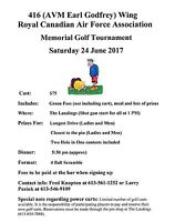 416 Wing Memorial Golf Tournament